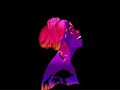 African women african woman women vector design adobe illustrator adobe