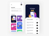 Learning App designs web ux typography logo illustration icon flat design branding application app design app