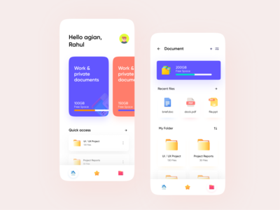 File Manager app UI file manager files abstract cloud animation designs typography logo illustration icon flat design branding application app design app