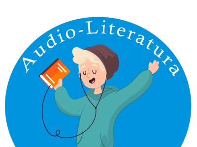 logo audiolibros vector illustration design