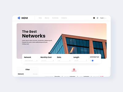 Telecom Landing Page branding design figma uiux
