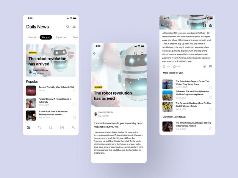 News app ux ui mobile mobile app design ios design app