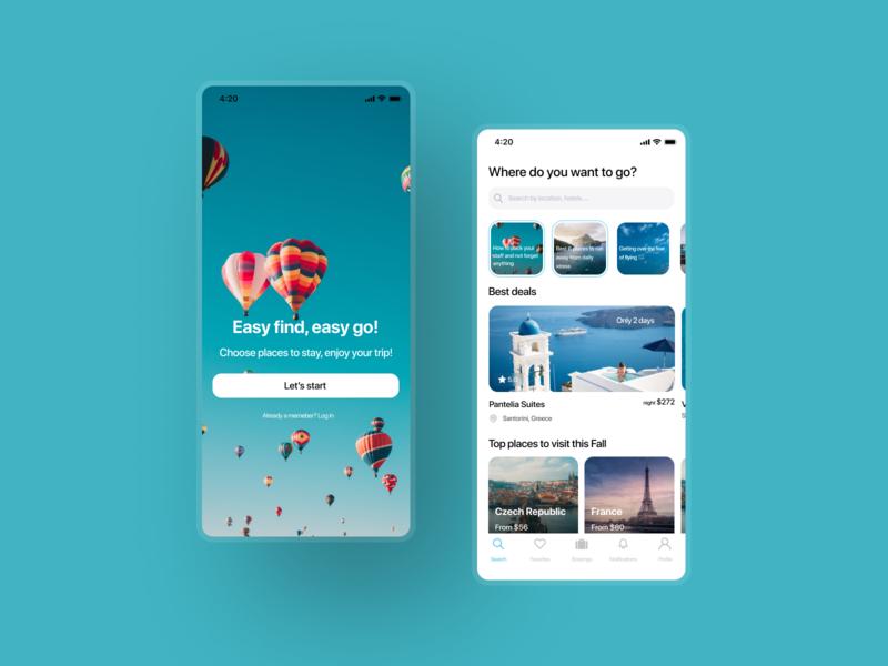 Hotel booking app ux ui mobile app design mobile ios design app