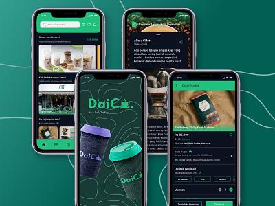 DaiCo - Your Daily Coffee coffee shop coffee ux ui figmadesign figma design app