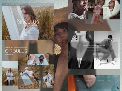 "Circal Fashion Introducing '21 New Collection ""Circulus"" fashion web design web ui figmadesign figma design"