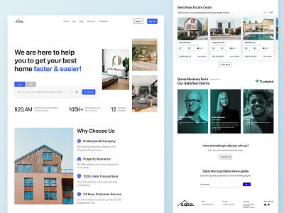 Casa - Real Estate realestate web ux figmadesign figma fi ui