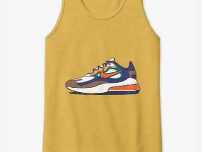 Nike Shoes Tank Top colorful illustrator adobe illustrator vectore tank top mockup tank top shoes design nike shoes shoes nike air nike