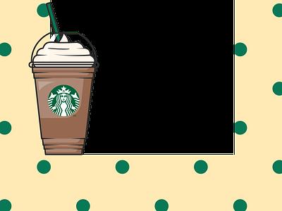 Starbucks Coffee Frame instagram filter spark ar studio frame coffee starbucks logo illustration illustrator colorful adobe illustrator