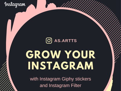 Instagram Sticker Filter animation instagram sticker instagram filter logo illustration illustrator colorful adobe illustrator