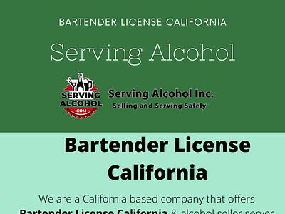 Bartender License California logo ui illustration training center training design shaker branding web liquor bartender usa bars bartenders alcohol
