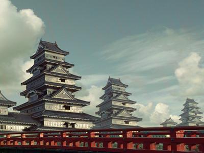 Japan japan matte painting illustration photomanipulation