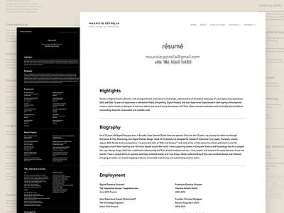 Resume editorial print resume