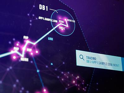Tracing dark glow ui data visualization trace