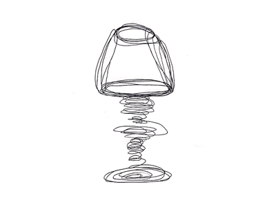 Lamp Illustration hand drawn lamp freehand drawing
