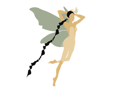 Fairy branding adobe illustrator draw art minimal logo flat vector illustration graphic design design fairy