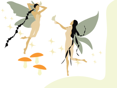Fairies icon animation adobe illustrator draw minimal flat vector illustration design graphic design art fairies