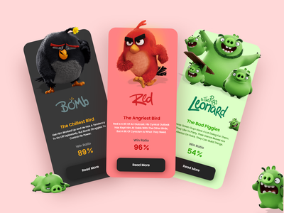 Angry Birds Guide App guide bird birds angry angry birds guide angry birds app app design web design uxdesign adobe ui adobe xd ux