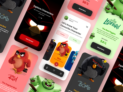 Angry Birds Guide App logo guide angry birds angry birds motion graphics graphic design animation app design web design uxdesign adobe ui adobe xd ux