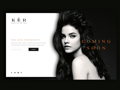 Coming Soon Page Concept black coming soon product design fashion website branding ux ui
