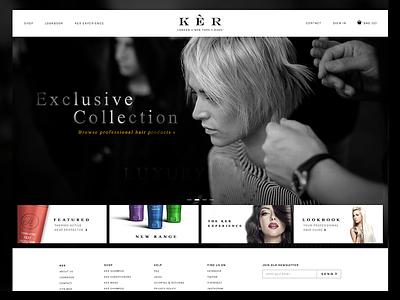 KER Final Homepage & Shop fashion design hair website branding animation black ux ui web design