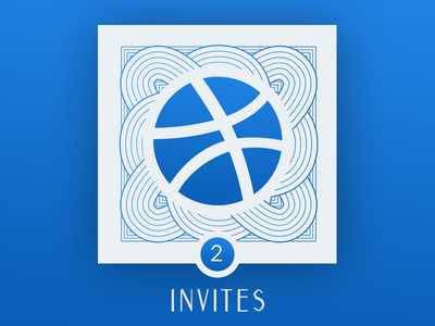 CLOSED -- 2 Dribbble Invites Giveaway card app visual design icon vector giveaway invites dribbble illustration