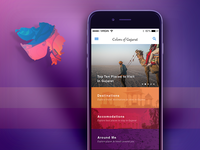 iOS App Design - Colors Of Gujurat