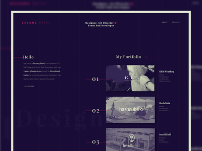 Personal Portfolio Website  app creative design interactive card ux ui dark website portfolio
