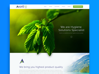 Design For Hygiene Solutions Company branding clean icon application web app design website ux ui