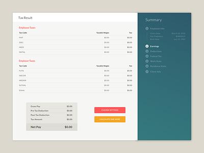 Tax Calculator App dashboard calculator design material website branding app card ux ui