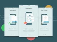 App Walkthrough Screens