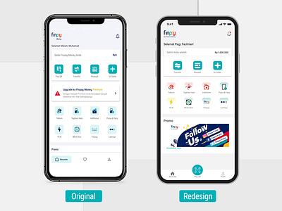 Redesign Finpay Money App app redesign ui