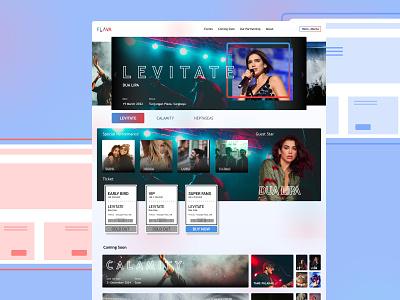 Flava - Music Event Concept web app ux figma music event web design app design ui