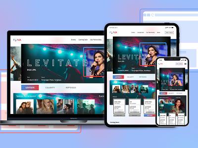 Responsive Music Event Website responsive music event ux web design mobile app logo figma design ui app