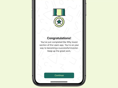 Congratulations 🎉 congratulations confetti code framer animation prototype ios app ios app ux design ux ui design ui interface