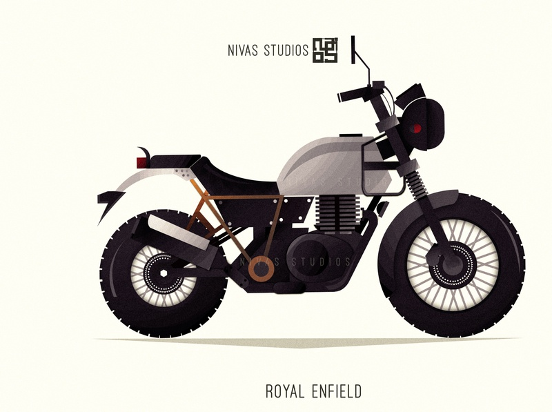 RoyalEnfield icon website animation illustrator minimal ui branding illustration design vector