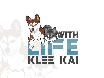 Life with KleeKai vector design logo illustration