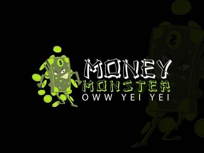 Money Monster design vector logo illustration