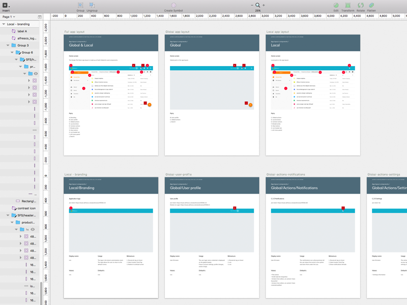 Friday spex sketch brand product guide build functional specification ux ui