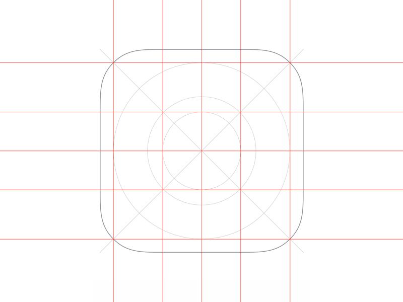 iOS App Icon template for Sketch template app icon ios sketch freebie