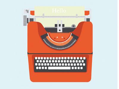 Typewritter illustrator illustration flat design typewritter