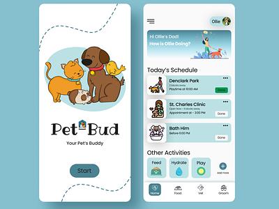 Pet Caring App ui  ux designer design logo illustration app typography minimal