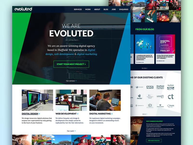 Evoluted responsive web portfolio uxui agency design ux ui website