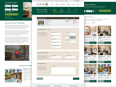 Darwin Forest vacation rental vacations web uxui responsive vacation holiday booking ux ui design website