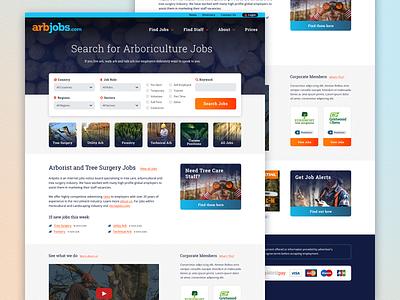 ArbJobs uxui web search arb ui design arboiculture arborist recruitment website