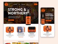 Hendos ux design ui design web design mobile responsive ecommerce bottle orange product web uiux ux relish ui design website