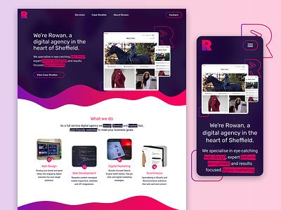 Rowan ui ux branding responsive web design website