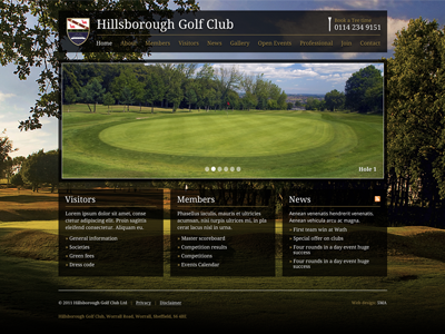 Golf 1 golf website background image