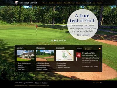 Golf 3 golf website background image