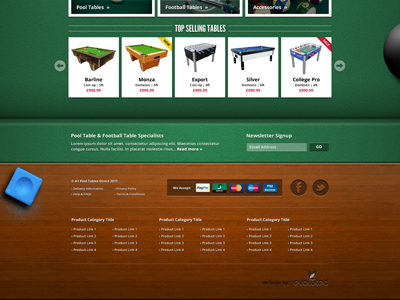 Pool Table Footer website texture felt e-commerce pool table footer wood