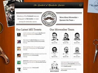 Movember page 2011 website movember wood paper pad mo moustache